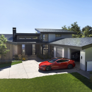 eco friendly house - tesla solar roof